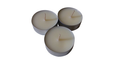 Organic soy wax tea light candles