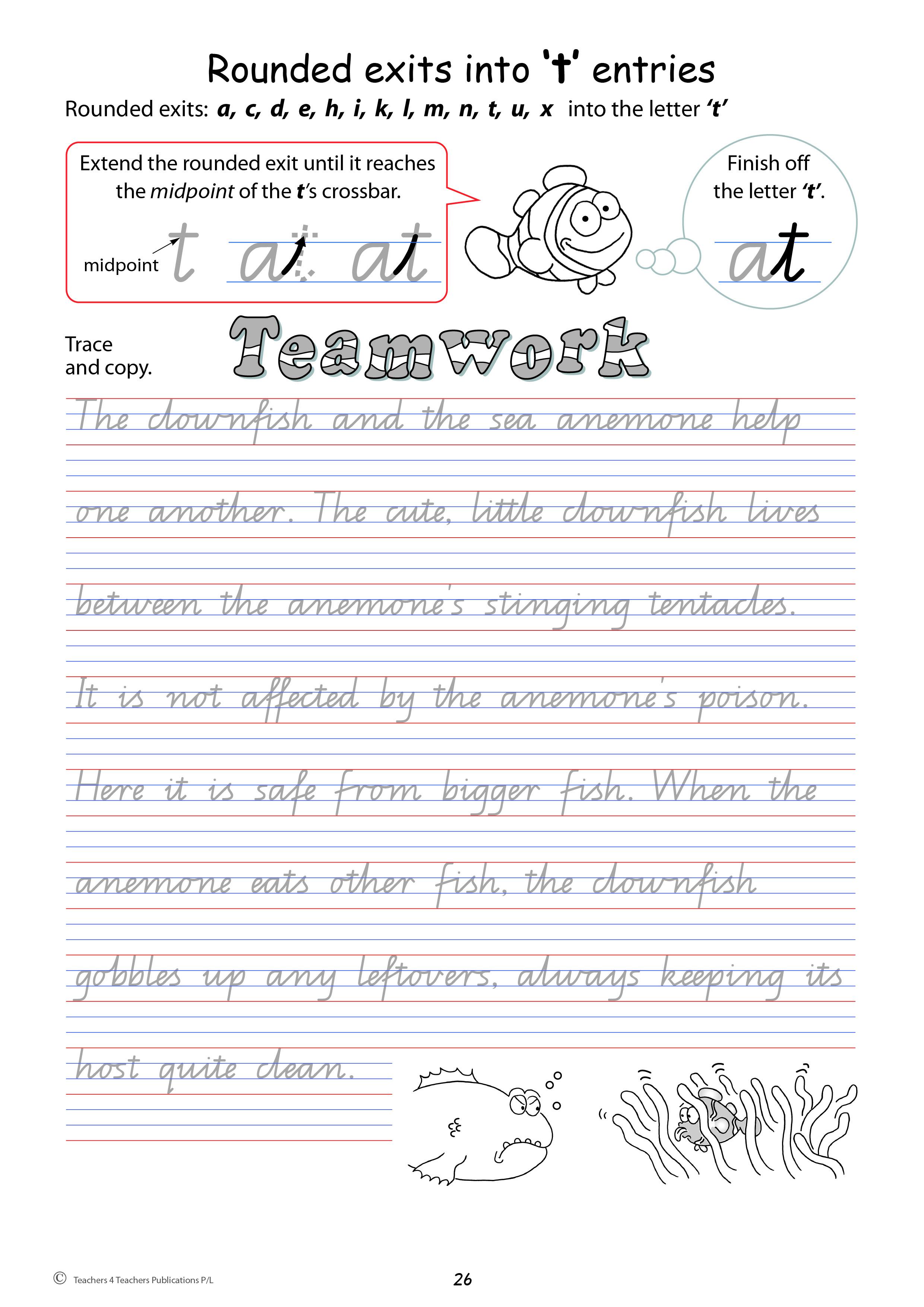 handwriting conventions queensland teachers 4 teachers publications pty ltd. Black Bedroom Furniture Sets. Home Design Ideas