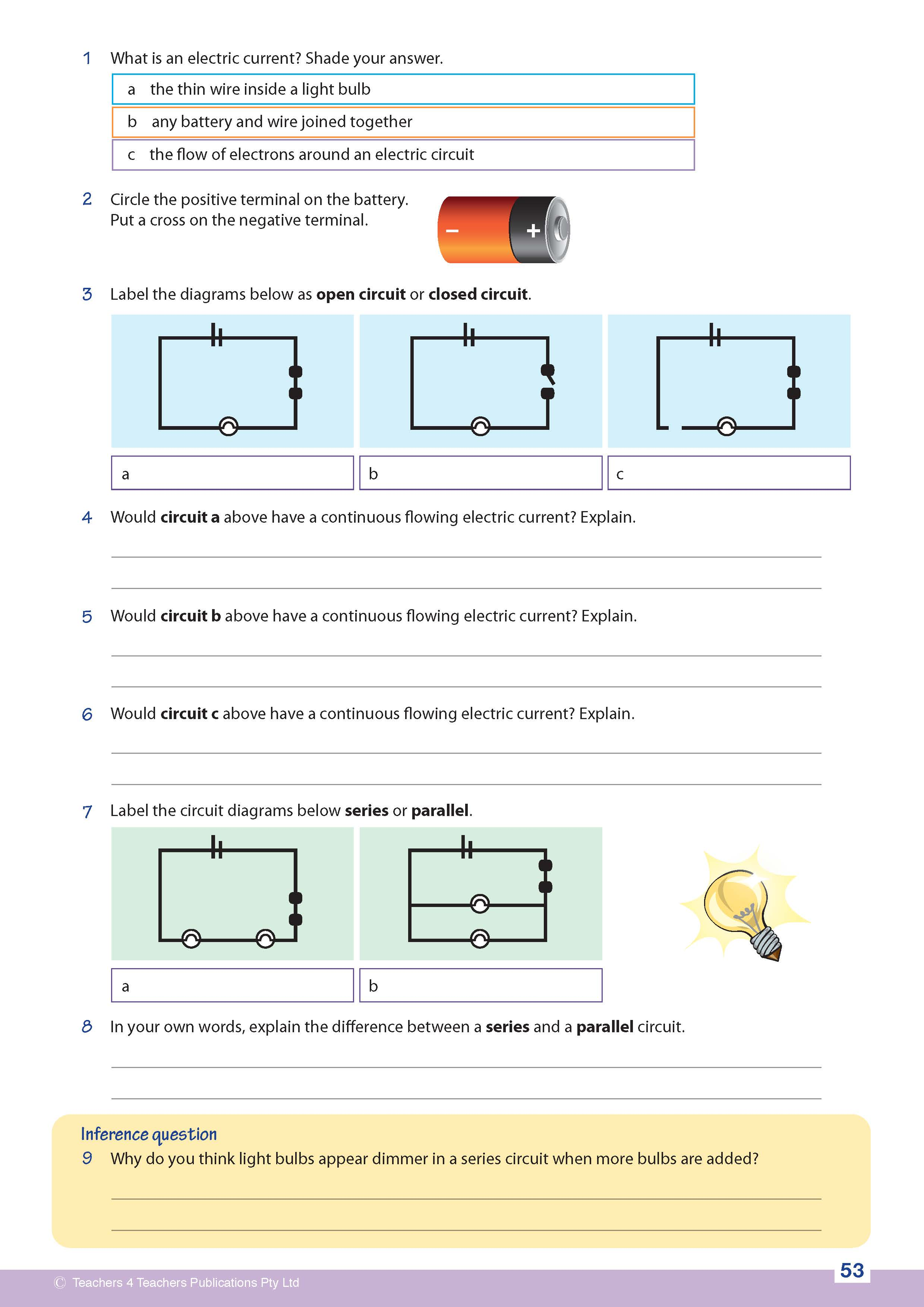 Science Now Teachers 4 Publications Pty Ltd Parallel Circuit Diagram 4th Grade Book Img 18