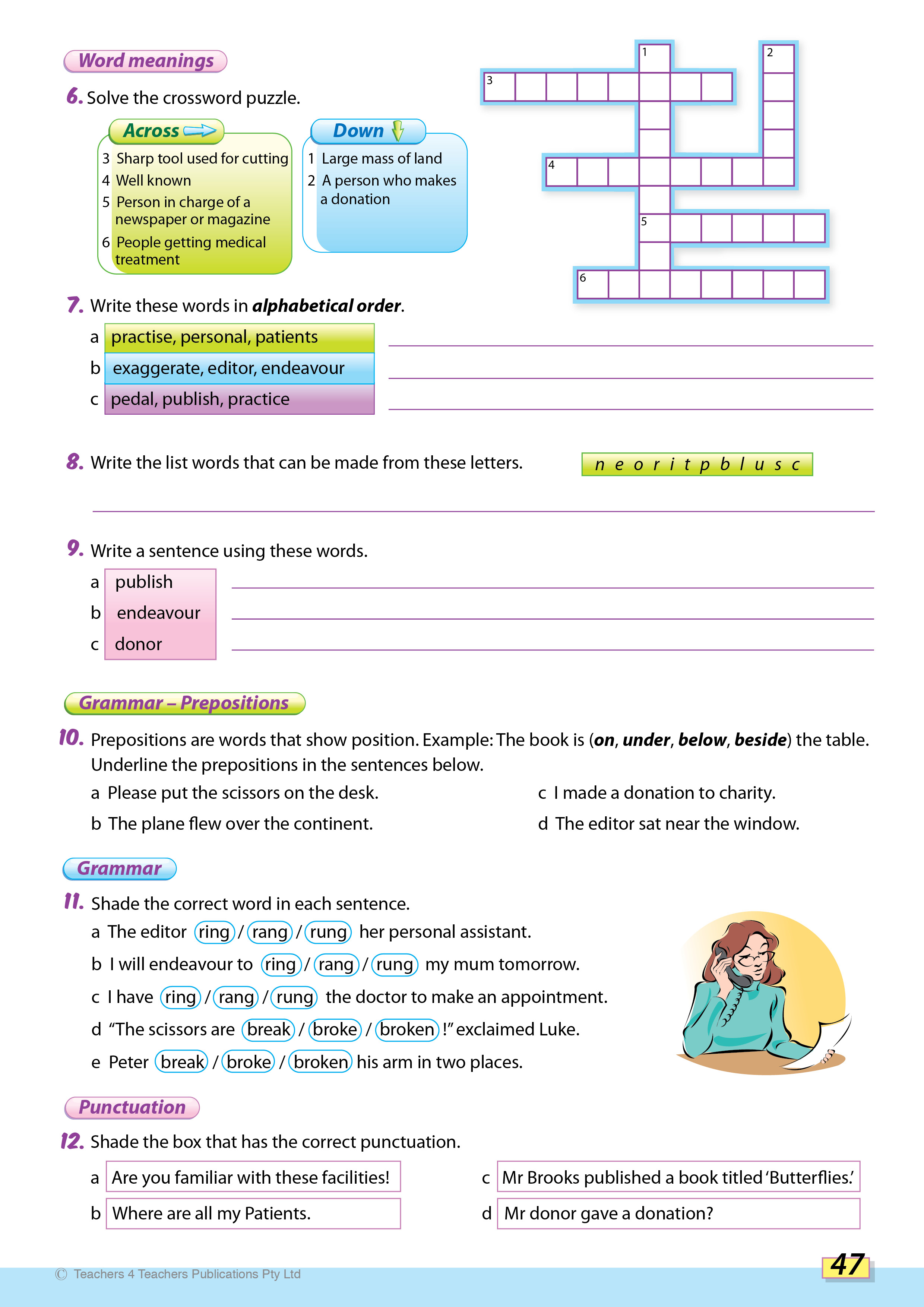 Spelling Conventions - Teachers 4 Teachers Publications Pty Ltd