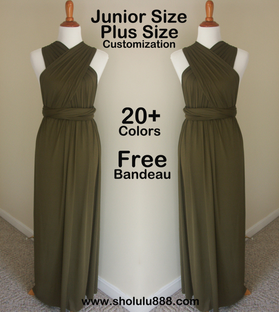 aa17f567a8 ... green long dress 100DS2. Price   45.00. Image 1