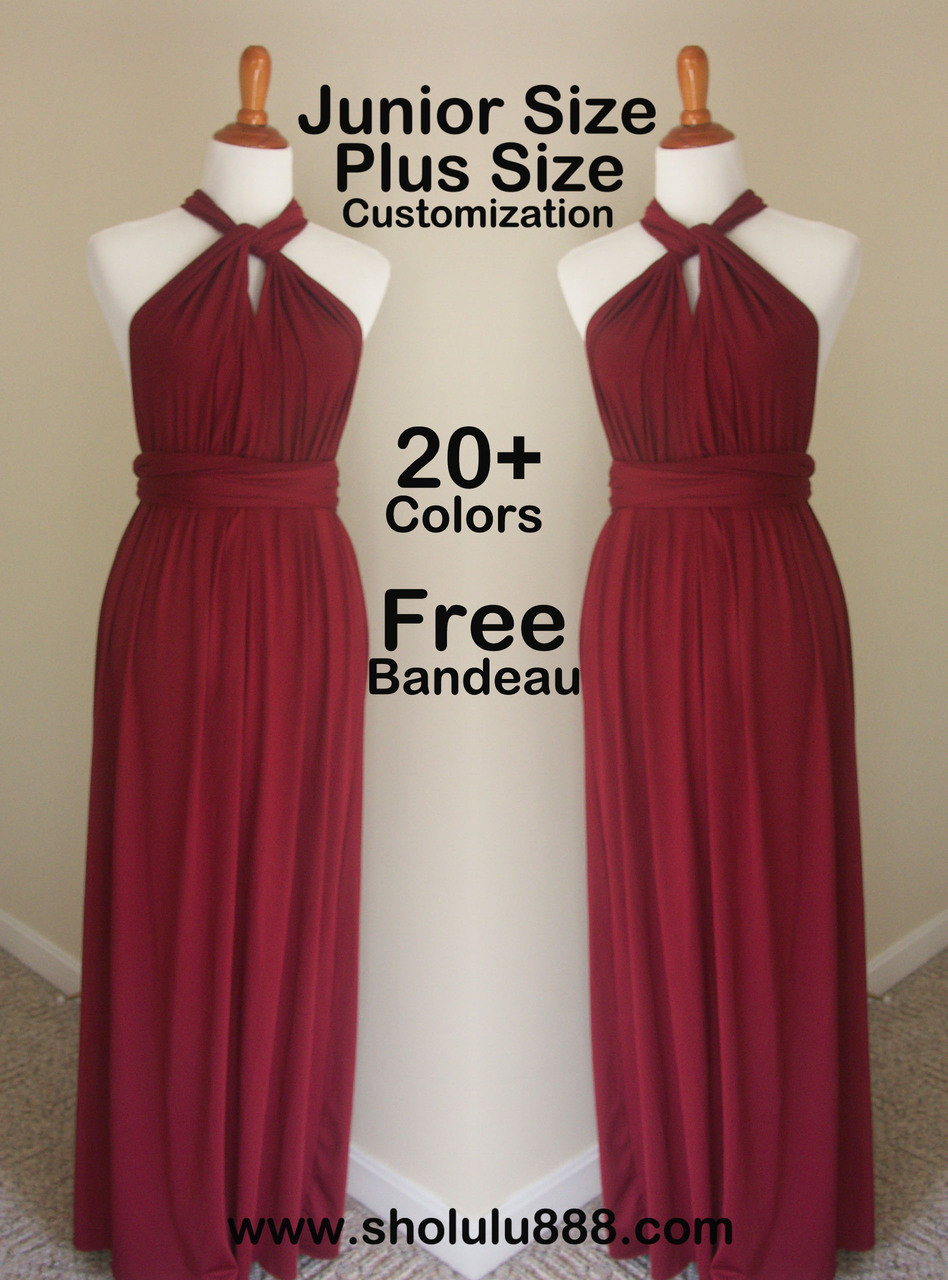 Maroon red infinity dress 0557e4d34