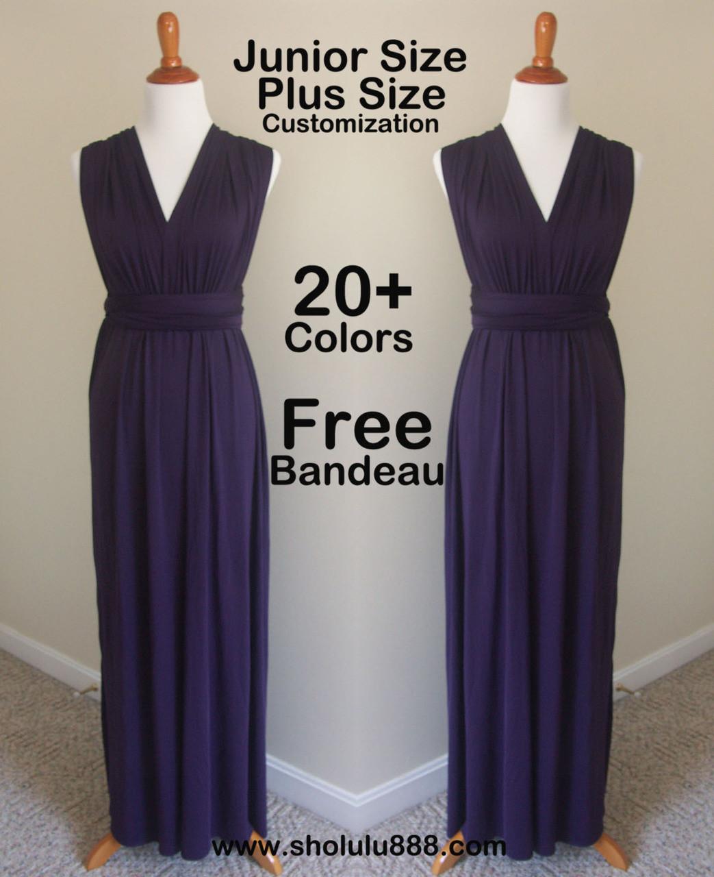 1328eea654c Dark purple infinity dress