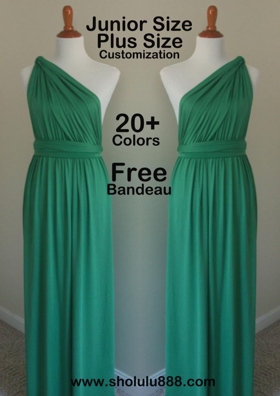 Jade green infinity dress,green bridesmaid dress, green wrap dress ...