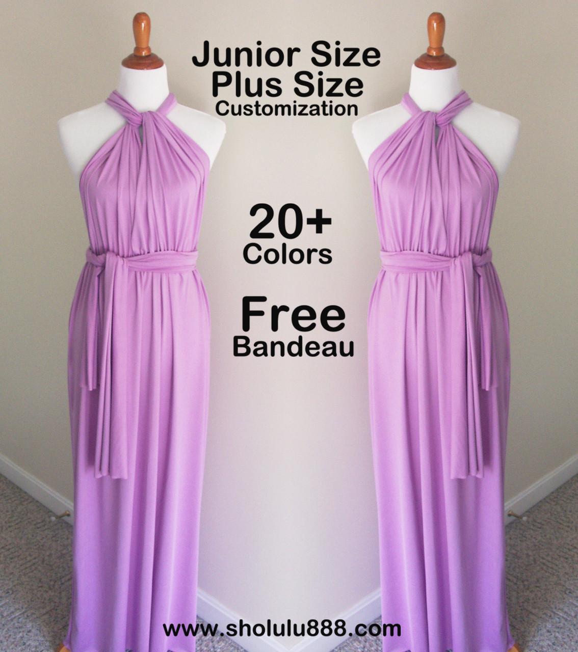 1147dcf03b Lavender purple infinity dress