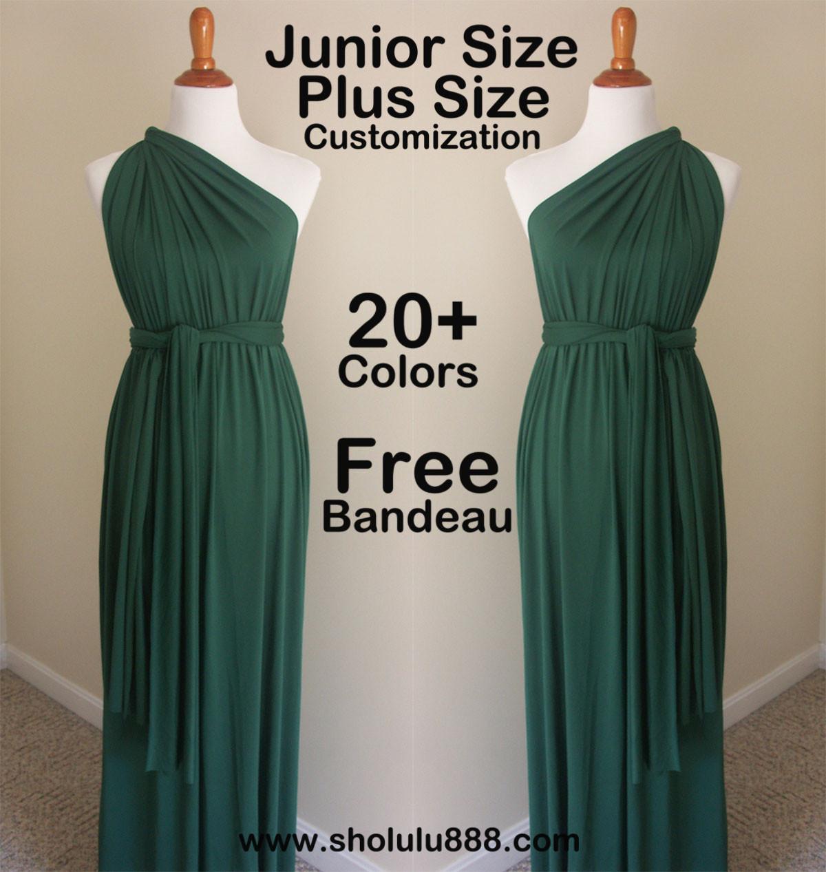 Dark Green infinity dress,green bridesmaid dress, green wrap dress ...