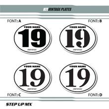 Vintage Number plates, Number plate Ovals