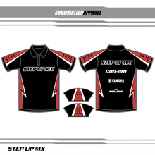 STYLE 8-Custom sublimation apparel is available in any color or logo combo that you prefer. Choose one of the predesigned polo selections and change your colors and logos for no additional charge. Want something completely custom then contact our design team for a look thats all your own. Visit our facebook page to view printed samples