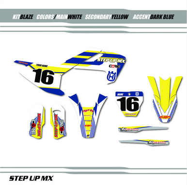Husqvarna Raptor graphic kit, order with your requested name, number and motor-sports sponsor logo's