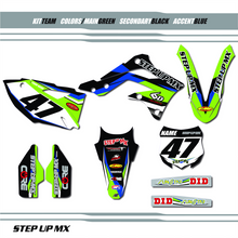 Kawasaki, Step Up MX Team graphic kit.