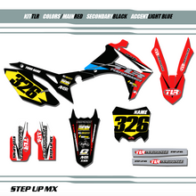 Full TLR PERFORMANCE Team Kit, order with your requested name, number and motorsports sponsor logo's
