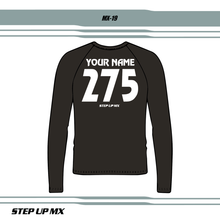 Choose your name, number and options for custom jersey lettering
