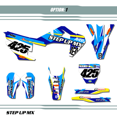 HUSQVARNA Icon graphic kit, order with your requested name, number and motor-sports sponsor logoS