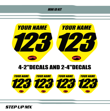MINI ID NUMBER PLATES