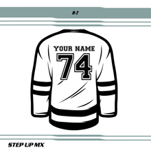 H 2 JERSEY LETTERING
