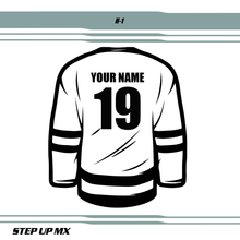 H 1 JERSEY LETTERING