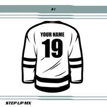 Hockey Jersey Lettering