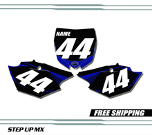Yamaha YZ250F 2014-2018 quick ship number plates