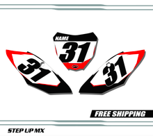 Honda CRF450F 2017-2020 quick ship number plates