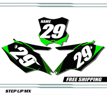 Kawasaki KX250F 2017-2020 quick ship number plates