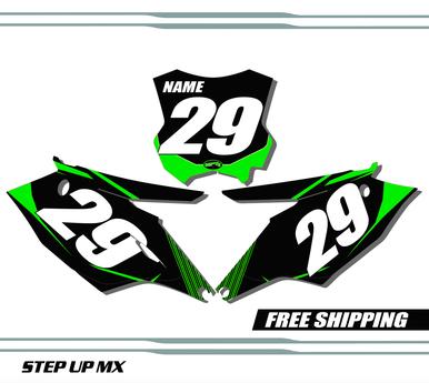 Kawasaki KX250F 2017-2020 quick ship number plates