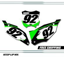 Kawasaki KX450F 2019-2022 quick ship number plates
