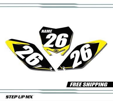 Suzuki RMZ 250 2010-2018 quick ship number plates