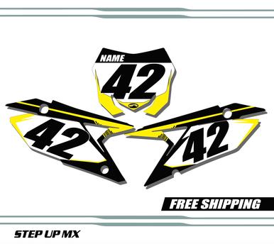 Suzuki RMZ 450 2018-2020 quick ship number plates