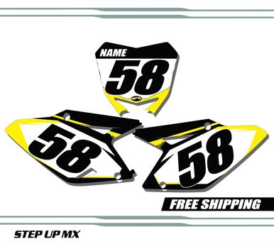 Suzuki RMZ 450 2008-2017 quick ship number plates