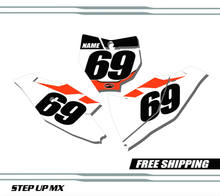 KTM 85 SX 2018-20 quick ship number plates