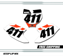 KTM 50 SX 2016-2020 quick ship number plates