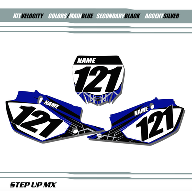 Velocity Yamaha Number Plate Decals