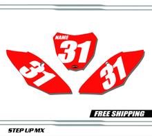 Honda CRF250 18-21 CRF450 17-20 Number Plates - Racer