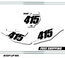 KTM SXF SX 125-450 16-18 Number Plates - Racer