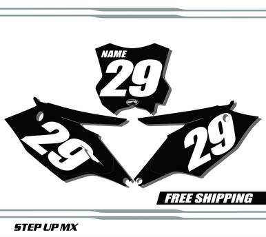 Kawasaki KX250F 17-20 KX450F 16-18 Number Plates - Racer
