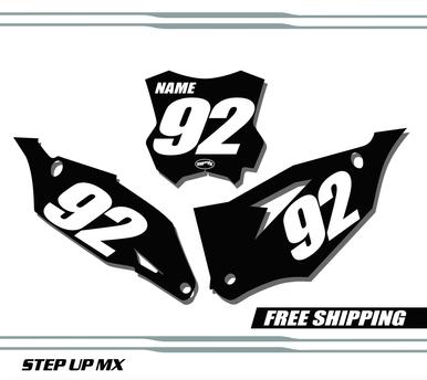 Kawasaki KX450F 2019-20 Number Plates - Racer