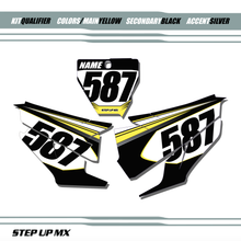 Qualifier Husqvarna Number Plate Decals