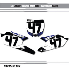 RAZOR YAMAHA NUMBER PLATE DECALS