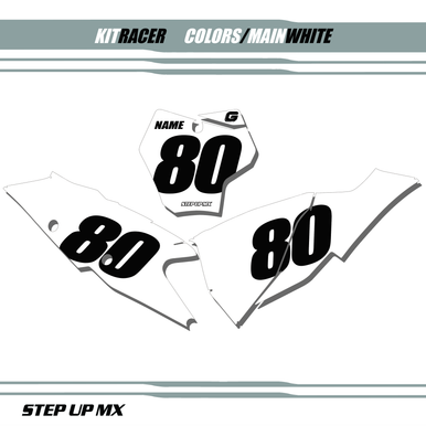 Gas Gas Racer Plates White
