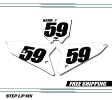 Honda CRF450 21-22 Number Plates - Racer white backgrounds black numbers