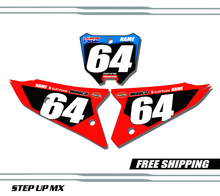 Honda CRF250R 2022 Factory21 style quick ship number plates