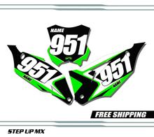 Kawasaki KX250F 2021 MECKX18 Style Quick Ship Number Plates