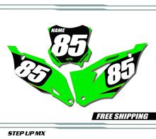 Kawasaki KX250F 2021 Factory20 Style Quick Ship Number Plates