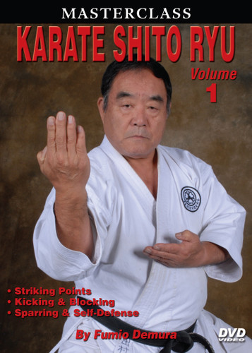 "Legendary ""Black Belt Hall of Fame"" member, Sensei Fumio Demura is an expert on traditional weapons and considered one of the best karate instructors in the world. This series is Sensei Demura´s legacy in the art of Shito Ryu Karate-do. Volume 1 includes striking points, target areas, standing positions and hand, elbow, kicking and blocking techniques; basic sparring and self-defense. (Approx. 60 min.)"