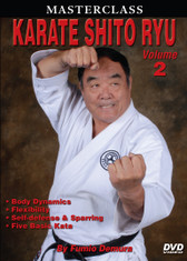 "MASTERSCLASS SHITO RYU KARATE ""Black Belt Hall of Fame"" member Fumio Demura is an expert on traditional weapons and considered one of the best karate instructors in the world. This series is Sensei Demura´s legacy in the art of Shito Ryu Karate-do. Volume 2 includes body dynamics, flexibility training, self-defense training, blocks, stances, striking, leg techniques, sparring and five kata. (Approx. 60 min.)"