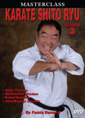 "MASTERSCLASS SHITO RYU KARATE Legendary ""Black Belt Hall of Fame"" member Fumio Demura is an expert on traditional weapons and considered one of the best karate instructors in the world. This series is Sensei Demura´s legacy in the art of Shito Ryu Karate-do.  . Volume 3 includes senior and black-belt-level kata and self-defense techniques; judo throws; punches, elbows, chops, kicks and other techniques; and kata (naifanchin shodan, matsumura rohai, sanchin, jitte, bassai dai and jiin). (Approx. 60 min.)"