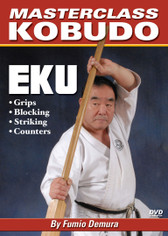 The Eku bo—also known as the Kai—is an oar used by Okinawan fishermen. Most of the techniques for using the eku bo are much like those of the bo, another Okinawan weapon. In this video, Fumio Demura sensei covers basic stances, proper grips, attacks, defense movements, blocking techniques and counters. A basic kata is also covered in this volume. (Approx. 54 min.)