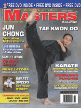"MASTERS MAGAZINE and SPECIAL DVD. SPRING 2008 Includes In-depth interview and techniques in the DVD section with Master Jun Chong. Rickson Gracie ""On the Record"", Rene Latosa (Escrima), Luis Heredia Brazilian Jiu Jitsu, Karate Sweeps, Samuel Kwok (Wing Chun), Winning Kumite by Kunio Miyake and much more!"
