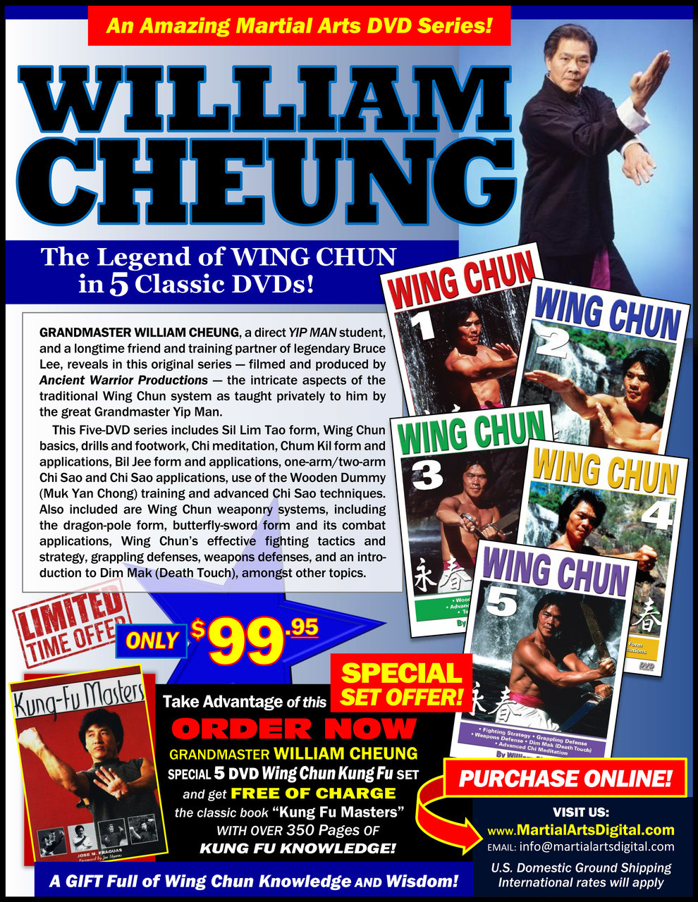 WING CHUN KUNG FU SPECIAL 5 DVD SET