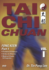 TAI CHI CHUAN Volume 1: Fong Keen (Part 1) by Dr. Tin Pang Lee During the 12th century, Zheng Saam Fong incorporated the concepts of yin and yang, refined the chi and applied medical knowledge to his basis for tai chi chuan. Dr. Tin Pang Lee presents this art in three volumes, covering fong keen (square form), tsui sai (push hands), kum na (joint and pressure exercises), health concepts and yuen kuen (circle form). Volume 1: Fong Keen (Part 1) covers the postures, techniques, stances and strikes of the fong keen form. Medical charts and diagrams are also presented to illustrate the benefits to overall health. (Approx. 60 min.)
